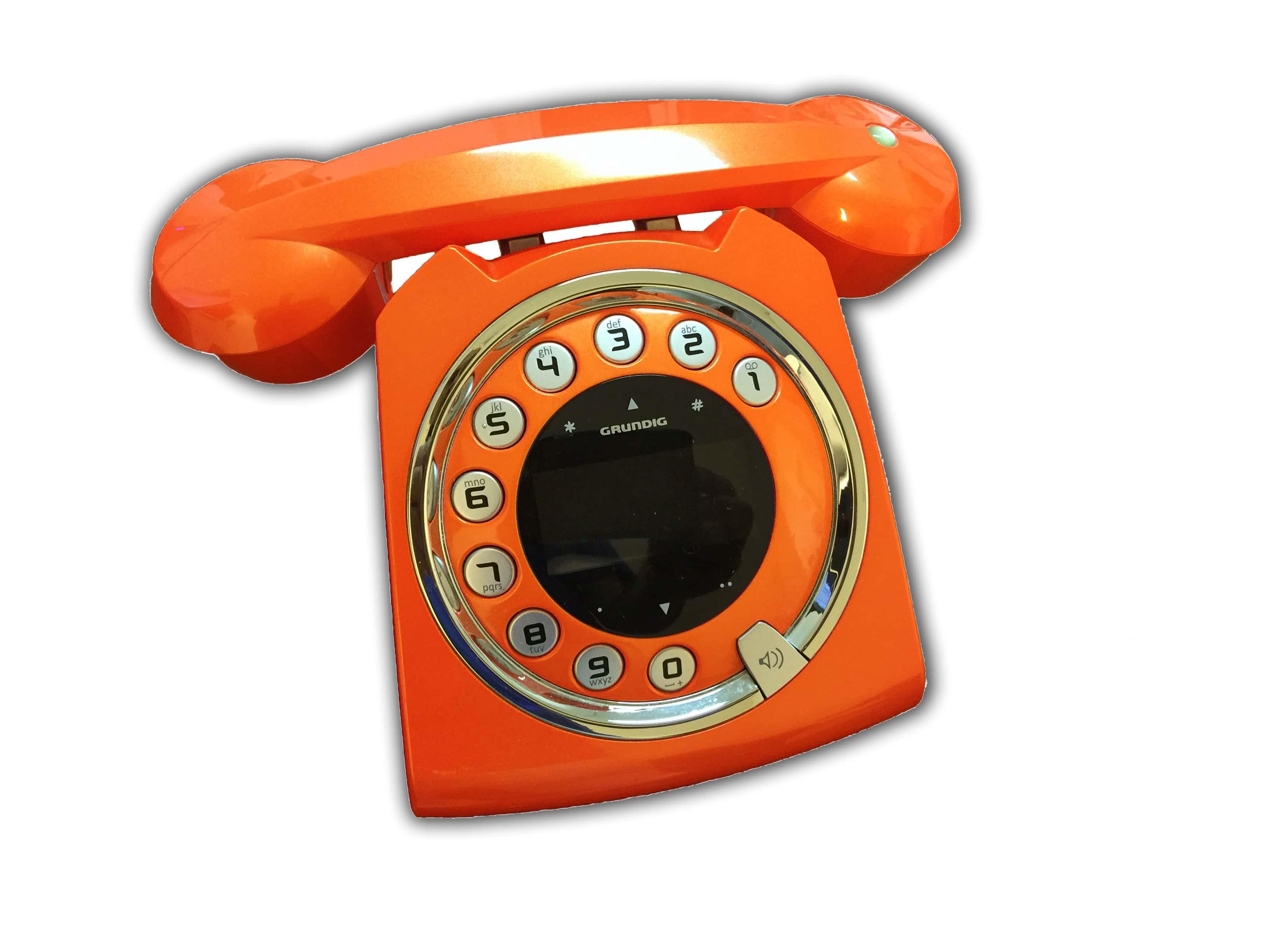 Orangefarbenes Telefon von Dr. Bernhard Hofer