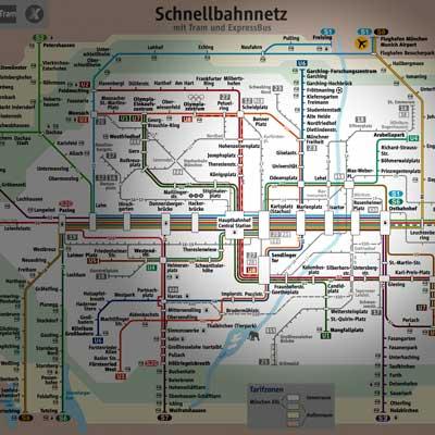 Plan Schnellbahnnetz München